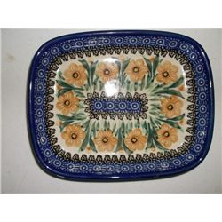 "7"" Long 6"" Wide tray Ceramika Artystyczna Artistic Ceramics Hand made in Poland"