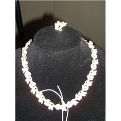 "1950s Sara Coventry necklace and earring set necklace 16"" long earring clip on 1/2"" ONLY ONE"
