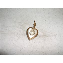 World War 2 Sweetheart Locket 12 cart gold over sterling silver and mother of pearl no chain
