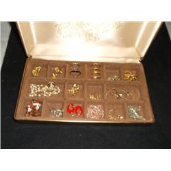 Jewelry Box full of Jewelry Rings, earrings, rheinstones