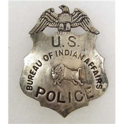 BUREAU OF INDIAN AFFAIRS U.S. POLICE BADGE