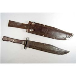 OLD WEST BUFFALO BILL PRESENTATION BOWIE KNIFE W/ SCABBARD BY TIFFANY