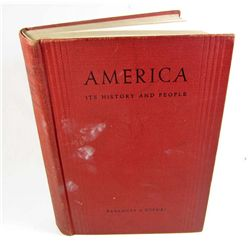"1934 ""AMERICA ITS HISTORY AND PEOPLE"" HARDCOVER BOOK"