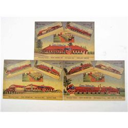 SET OF 3 BLACK AMERICANA COON CHICKEN INN POSTCARDS