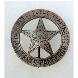 OLD WEST TEXAS RANGERS COWBOY ERA LAW BADGE