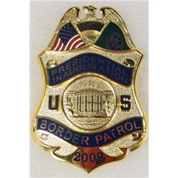 OBSOLETE US 2009 56TH ANNUAL PRESIDENTIAL INAUGURATION BORDER PATROL LAW BADGE