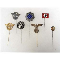 LOT OF 7 GERMAN NAZI STICK PINS