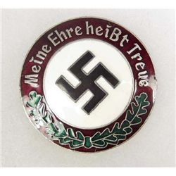 GERMAN NAZI ENAMELED MEINE EHRE HEIST TREUE BADGE