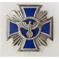 GERMAN NAZI BLUE ENAMELED BADGE