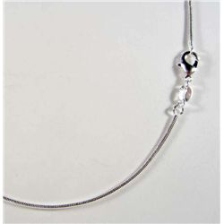 "844 - SILVER 18"" SNAKE CHAIN - MARKED 925"