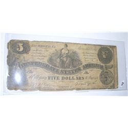 1861 $5 DOLLAR CONFEDERATE NOTE *EXTREMELY RARE 1ST YEAR CONFEDERATE NOTE* SEPTEMBER 1, 1861!