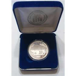 2001 SILVER BUFFALO PROOF COIN *1oz .999 SILVER 100 MIL* COMES WITH NATIONAL COLLECTOR'S MINT COA!!!