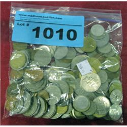 One bag of assorted world coins