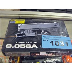 One G056A air soft gun with one bag of BBs