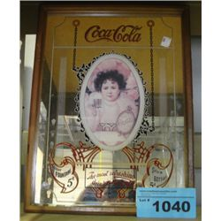 Framed coca cola advertisment mirror