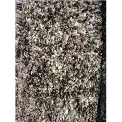 Multi Colored Brown And Beige Shag Area Rug