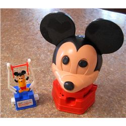 Lot of 2 Vintage Mickey Mouse Toys