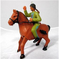 Vintage Wind Up Galloping Action Indian