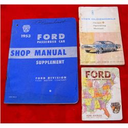 Lot of 3 Vintage Ford/Oldsmobile Car Manuals