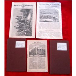 Lot of 5 Original Early 1800's Magazines