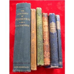 Lot of 6 Original 1800's Books