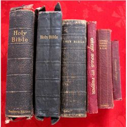 Lot of 6 Original London Pub. 1800/1900s Bibles