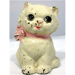 Vintage Hubley Cast Iron Kitty Cat Still Bank