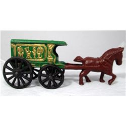 Cast Iron US Mail Horse Carriage