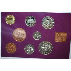 1970 Great Britain & Northern Ireland Mint Proof Foreign Coin Set; EST. $10-20