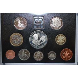 1998 United Kingdom Mint Proof Foreign Coin Collection With Five Pound Coin Commemorating 50th Birth