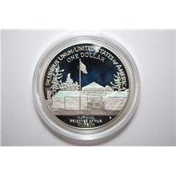 1994-P US Prisoner Of War Commemorative Silver $1; Proof; 90% Silver .76 Oz.; EST. $65-75
