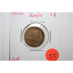 1858 Flying Eagle One Cent; G4; EST. $30-40