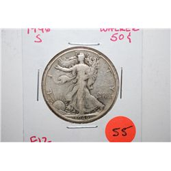 1946-S Walking Liberty Half Dollar; F12; EST. $15-25