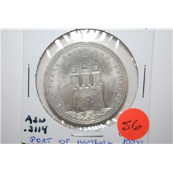 1989-J German 10 Deutsche Mark Foreign Coin; Port Of Hamburg 800 Yr.; .3114 ASW; EST. $10-20
