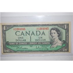 1954 Canada $1 Foreign Bank Note; EST. $3-5