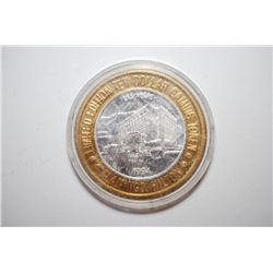 1994 Flamingo Hilton Las Vegas NV Limited Edition Two-Tone $10 Gaming Token; .999 Fine Silver; EST.