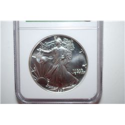 1990 Silver Eagle $1; Windy City Monster Box Hoard; NGC Graded MS69; EST. $40-60