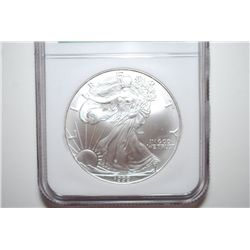 1999 Silver Eagle $1; Windy City Monster Box Hoard; NGC Graded MS69; EST. $40-60