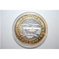 "Bill's Casino ""Emerald Bay Lake Tahoe"" Lake Tahoe NV Limited Edition Two-Tone $10 Gaming Token; .999"