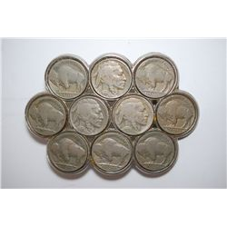 Buffalo Nickel Belt Buckle; Lot of 10; EST. $10-20