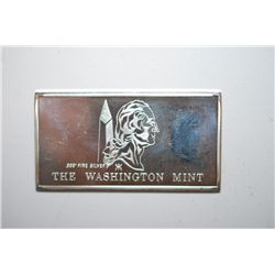 The Washington Mint Silver Ingot; .999+ Fine Silver .667 Oz.; EST. $20-30