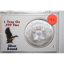 A-Mark Silver Round In Holder; Liberty Silver .999+ Silver 1 Oz.; EST. $30-35