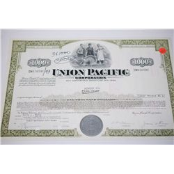 Union Pacific Corp. Stock Certificate Dated 1976; EST. $5-10