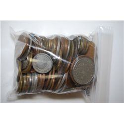 World Coins & Tokens; Various Dates, Conditions & Denominations; Lot of 100; EST. $5-10