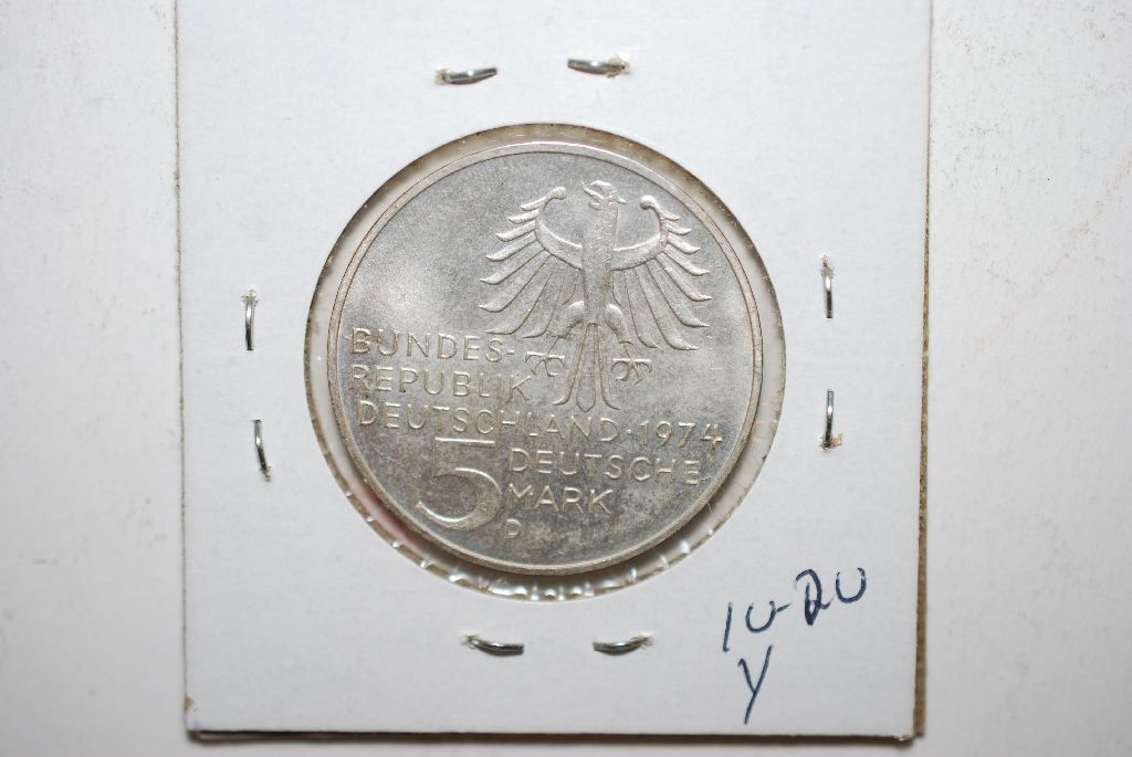 1974 Deutsche Mark Coin Deutsche Mark Foreign Coin