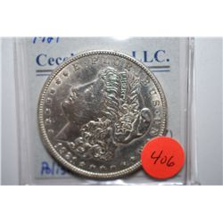 1921 Silver Morgan $1; Polished; EST. $30-40