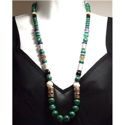 Navajo Malachite & Multi-Stone Necklace - Tommy Singer