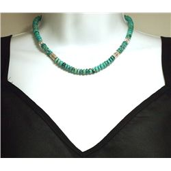 Navajo Turquoise Sterling Silver Necklace - Tommy Singer
