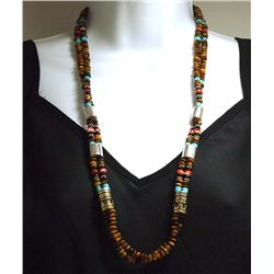 Navajo Tiger's Eye & Multi-Stone 2-Strand Necklace - Tommy Singer