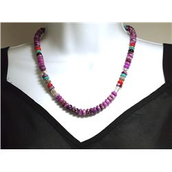 Navajo Sugilite & Multi-Stone Necklace - Tommy Singer